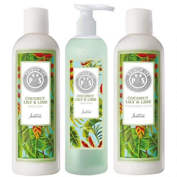 Spa Coconut Lily And Lime Body Wash, Hand Wash & Body Lotion