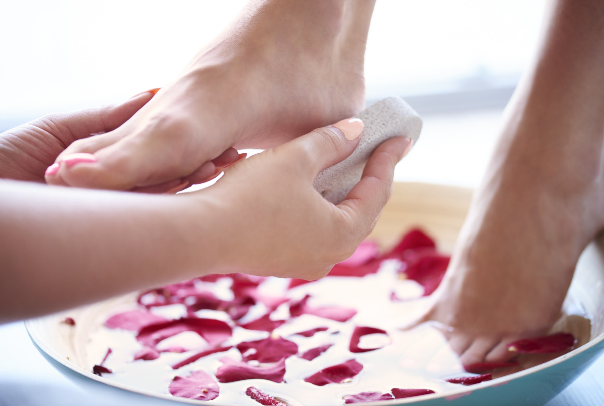 Pedicure for tired and neglected feet