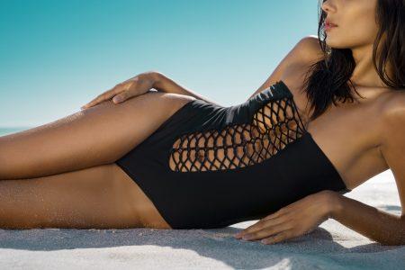 Woman in swimwear on beach
